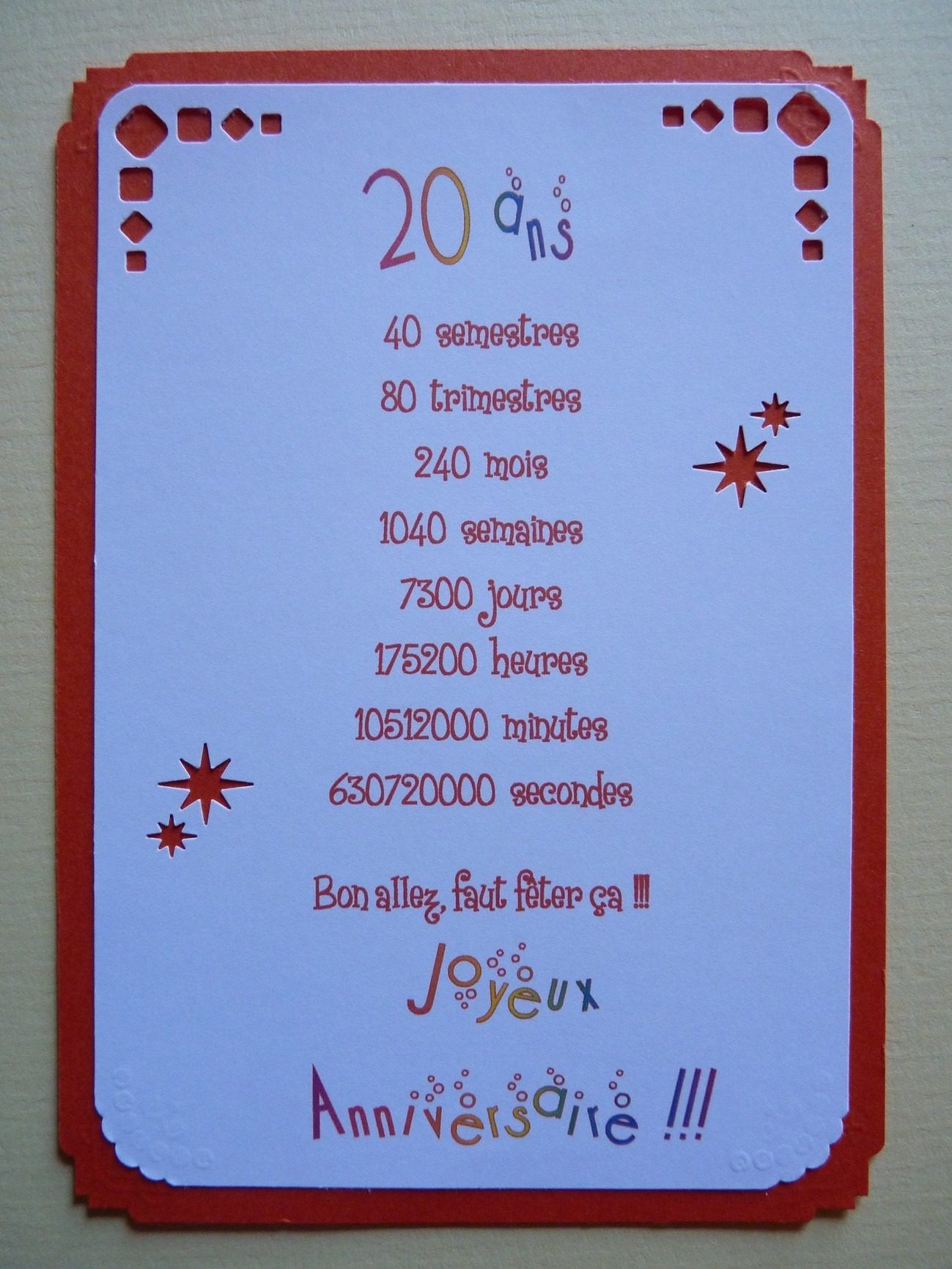 Carte Anniversaire 25 Ans Humour A Imprimer