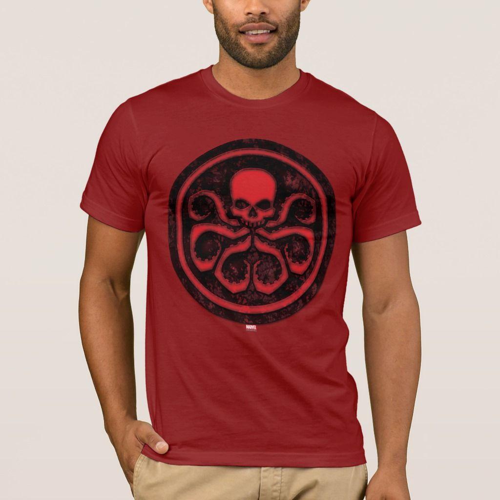 Hydra Logo T-shirt Captain America Shield Avengers Superhero Gift New From US