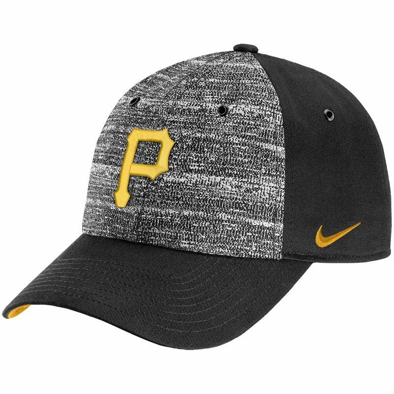 finest selection 41031 3d200 Pittsburgh Pirates Nike New Day H86 Adjustable Hat - Heathered Gray Black