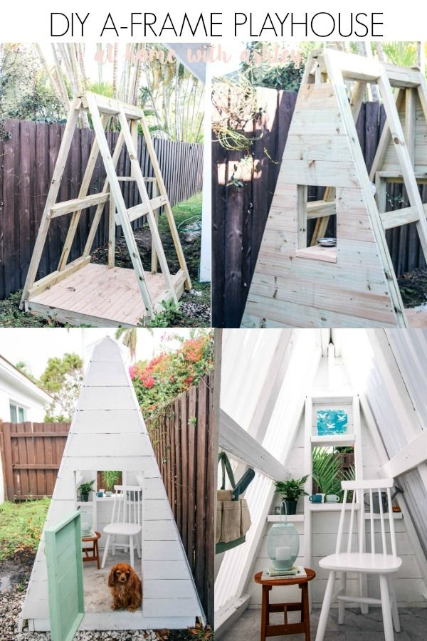 Topnotch DIY A-Frame Play House | At Home with Ashley blog | Legehus CN58