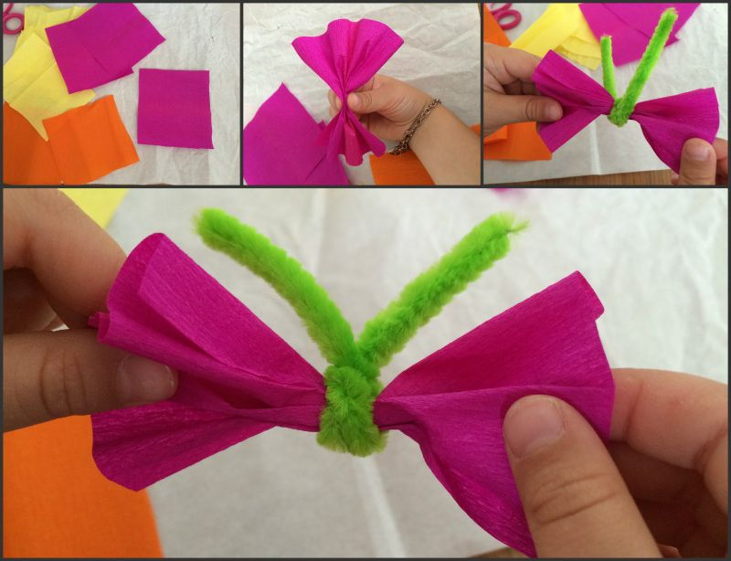 Farfalle Di Carta Crespa Lavoretto Bambini Lavoretti