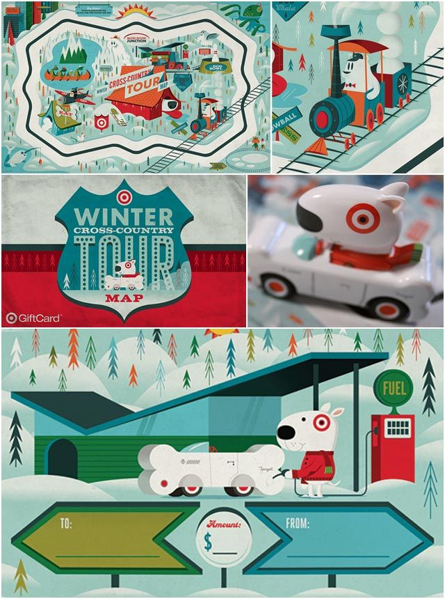 Draw & Go Target WOW gift card designed by graphic design