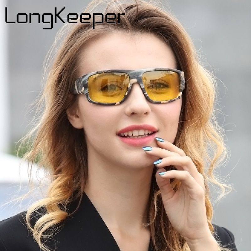 80fb7d492a0b0 LongKeeper 2018 New Night Vision Sunglasses Women Brand Designer Polarized  Night Driving Enhanced Light At Rainy Cloudy Fog Day Review
