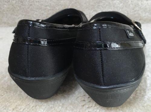 Keds-Mary-Jane-Black-Women-039-s-Size-6-5-M-Fan-Fair-Style-Wedge-Heels-Loafers