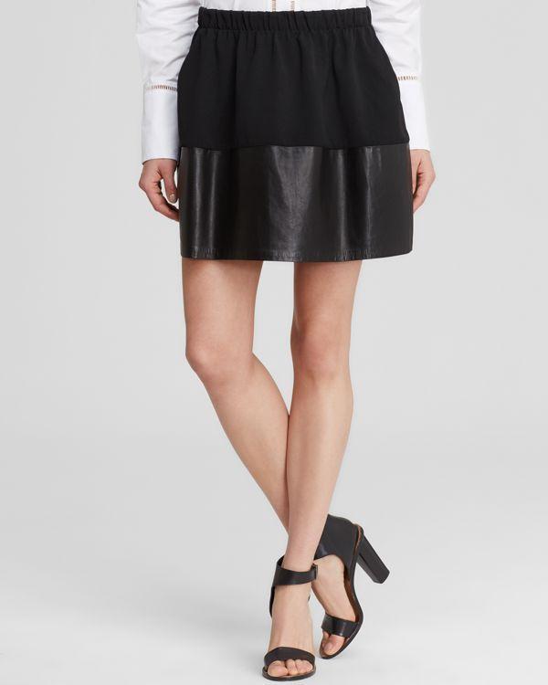 Vince Skirt - Leather Hem