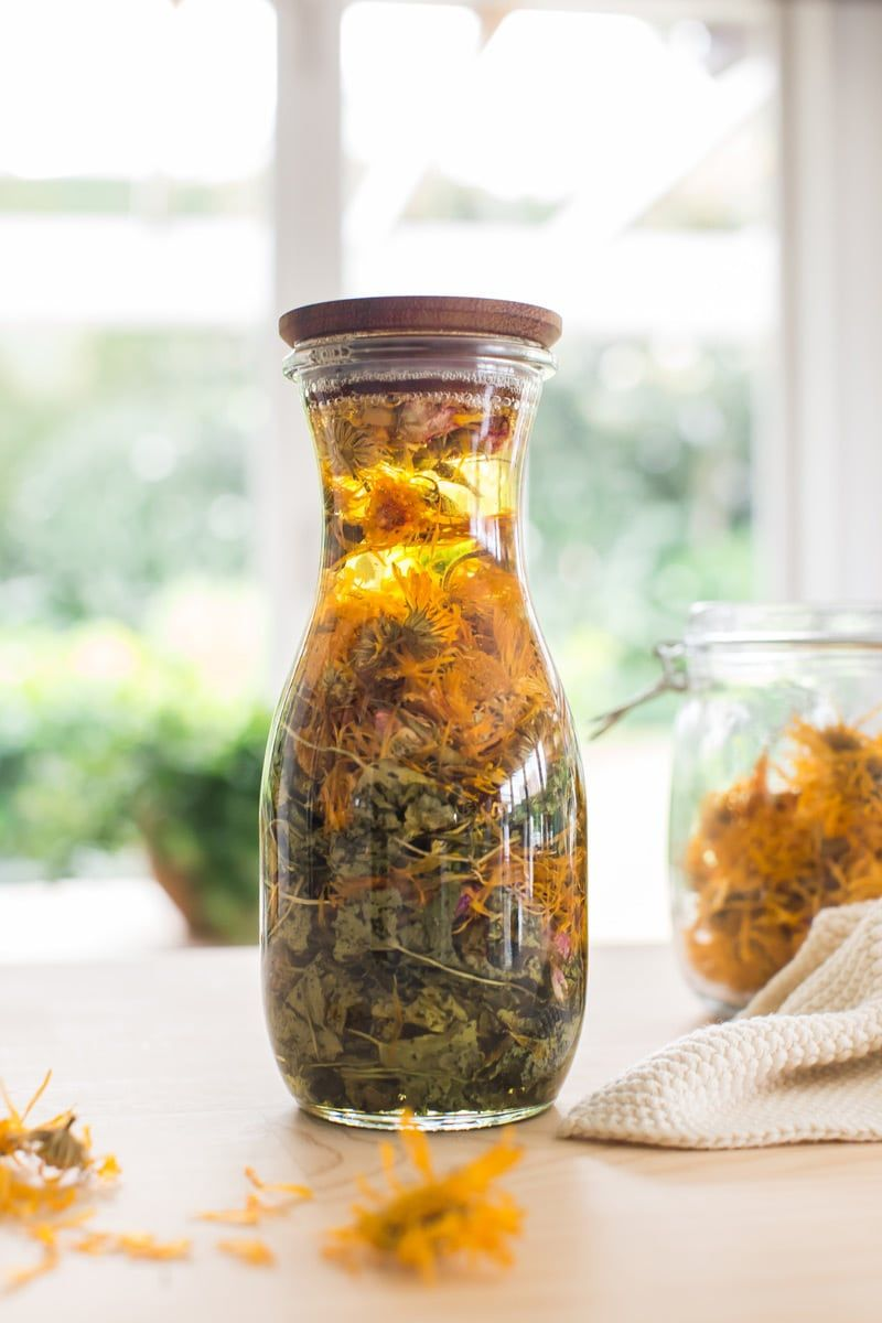 Diy body oil with gotu kola and calendula homemade
