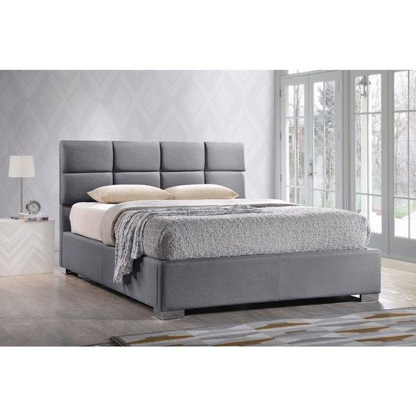 Beautiful Grey Platform Bed King  Inspiration