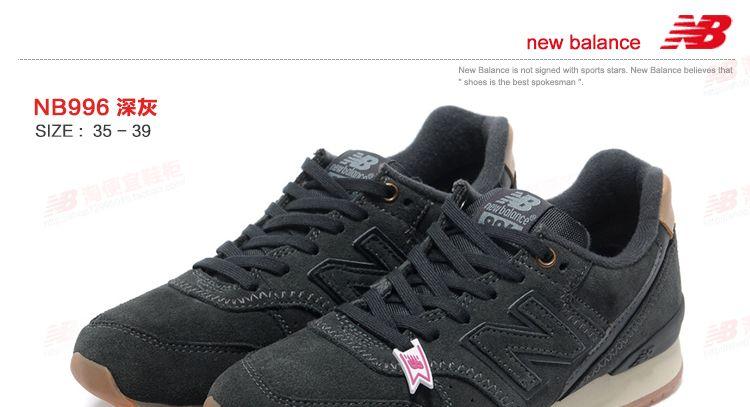 new balance negras mujer 996
