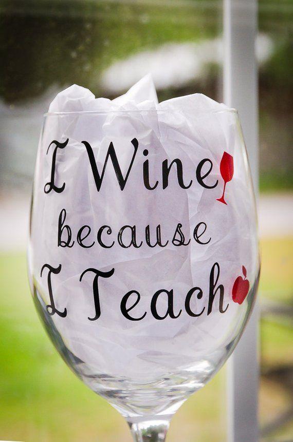 15 oz After School Snack Funny Gift Laser Etched Wine Glass Cursive