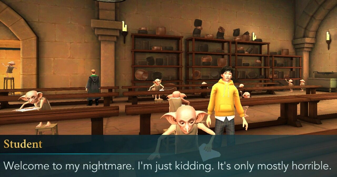 Detention In The Kitchens With The House Elves And Jae Kim Hogwarts Mystery Hogwarts Mystery Mystery Games Hogwarts