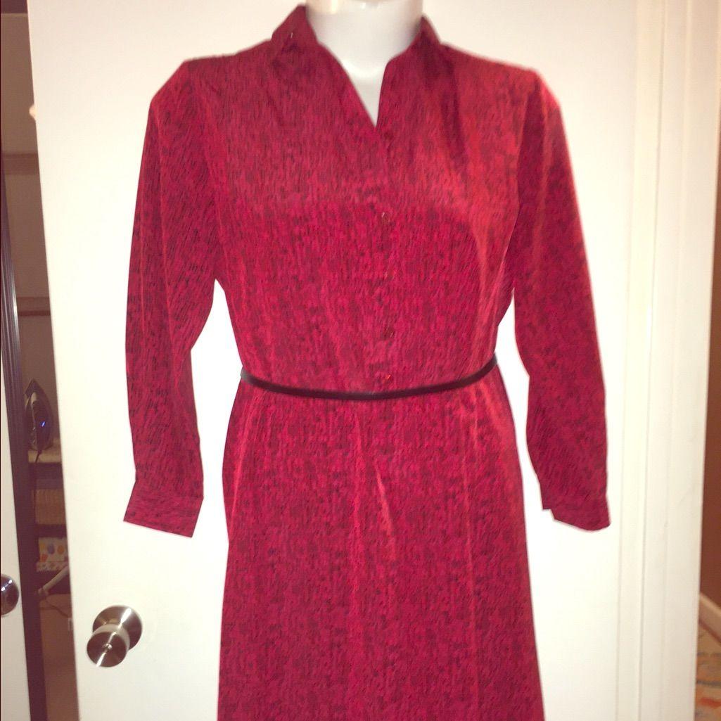 Classic schrader sport petite red u black dress red black dress