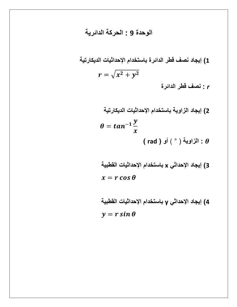 الفيزياء أوراق عمل الحركة الدائرية للصف الحادي عشر Math Math Equations Ads