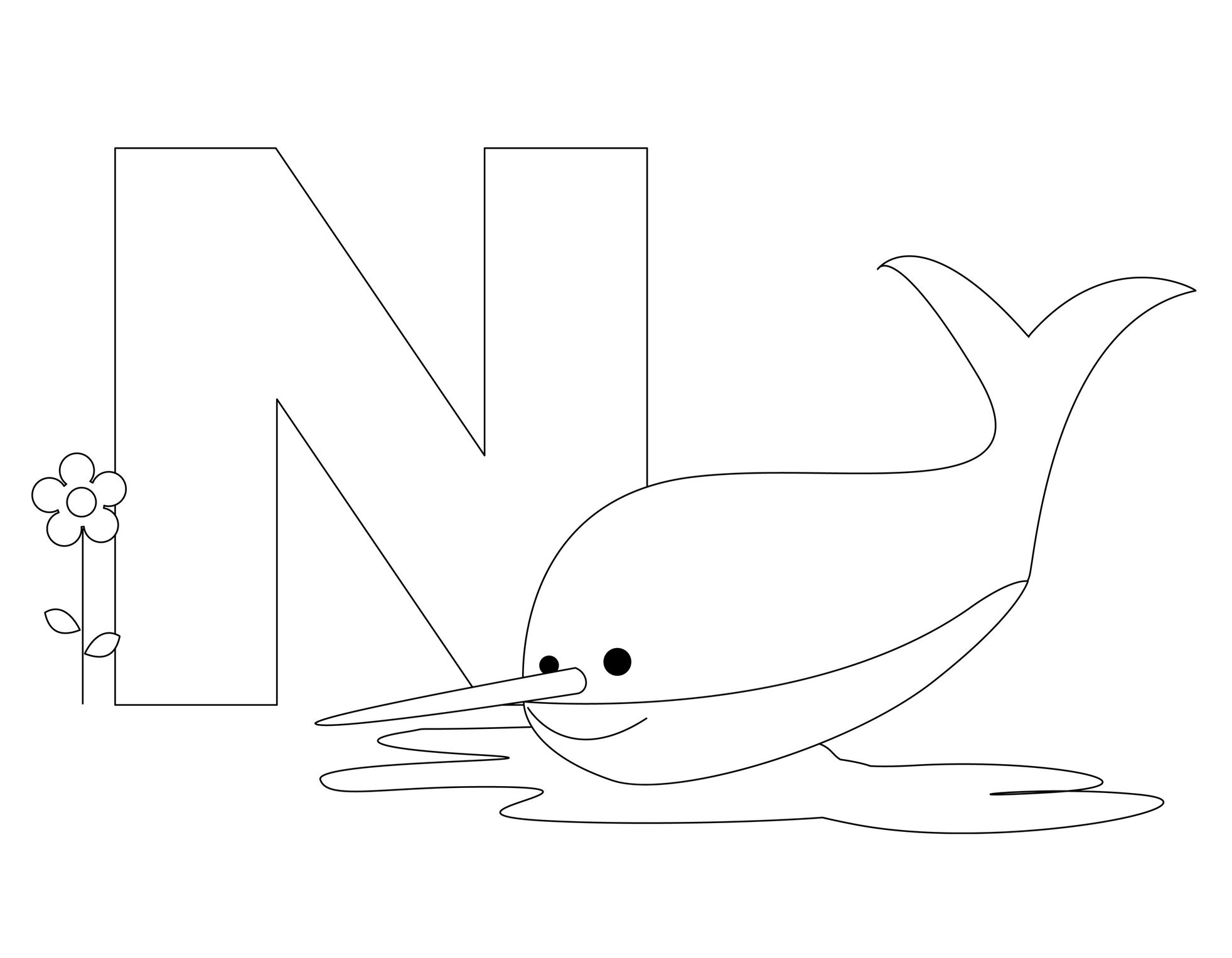 Coloring pages nurse - Animal Alphabet Letter N Is For Nurse Shark Here S A