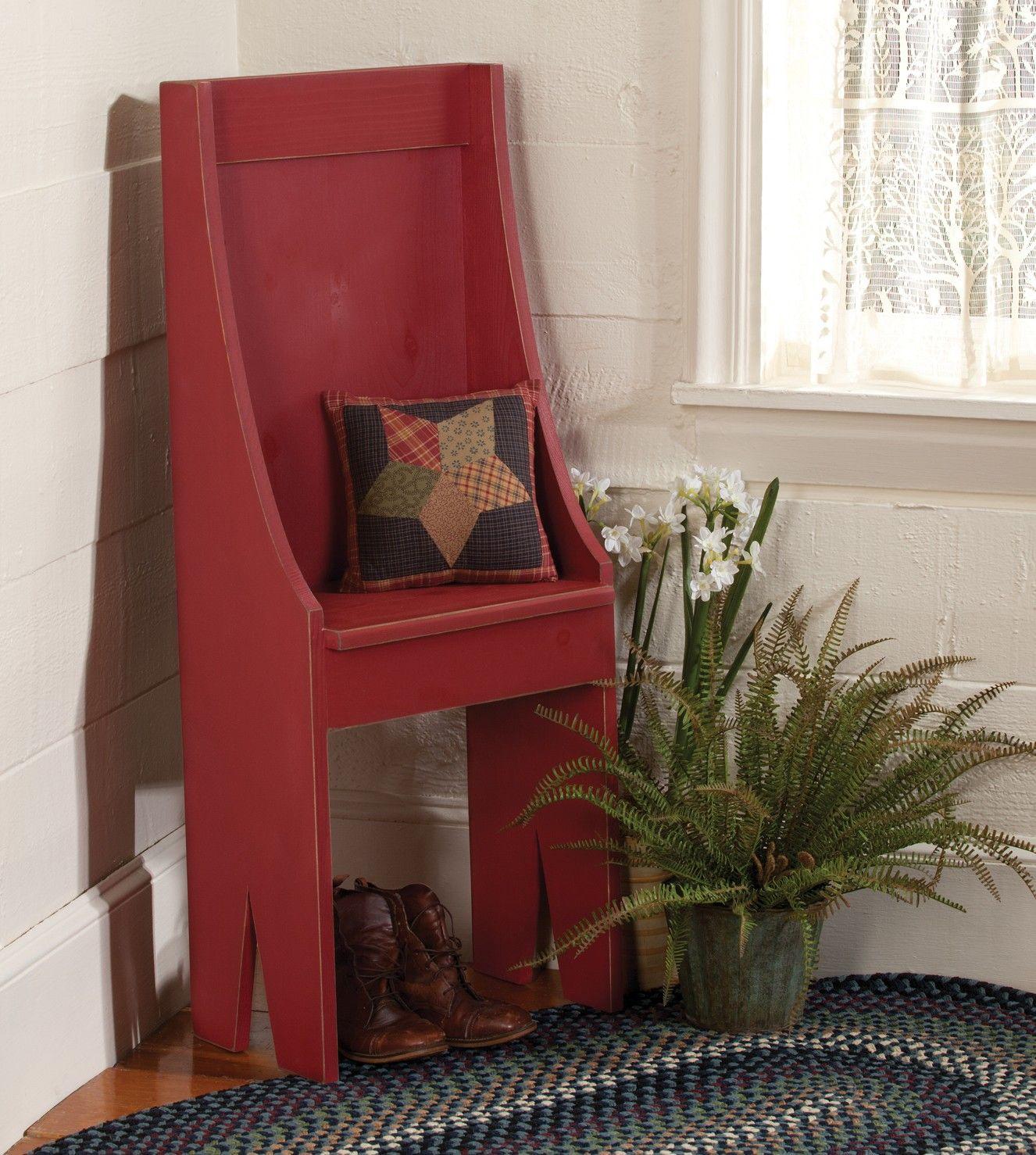 Country Primitive Sofa Tables Ergonomic Couch Pine Entryway Chair Prim Decor