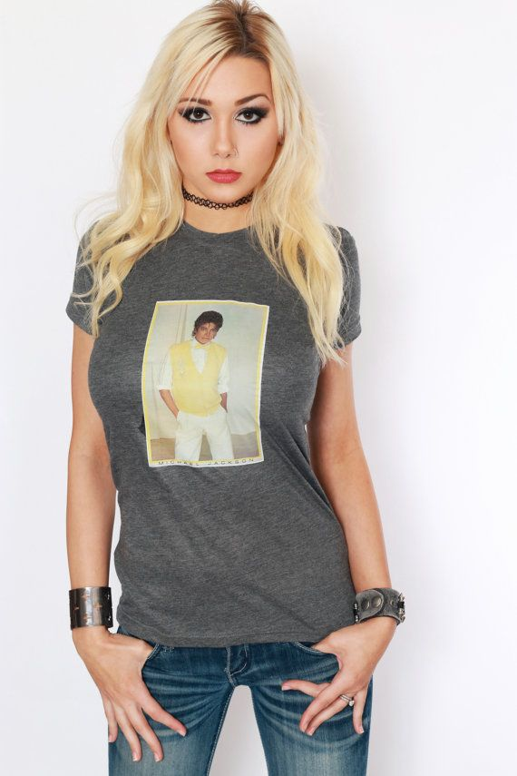 Vintage Michael Jackson Tee / 80s T-Shirt by DazedAndVintage