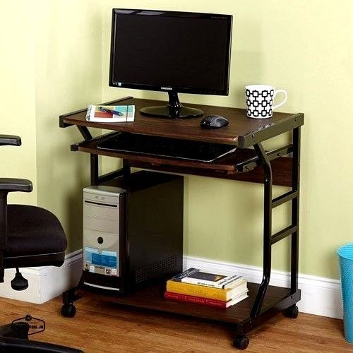 Computer Desks On Wheels For Small Spaces Home Office Compact Desk Mobile New Generic Contemporary Mobile Computer Desk Home Office Furniture Furniture