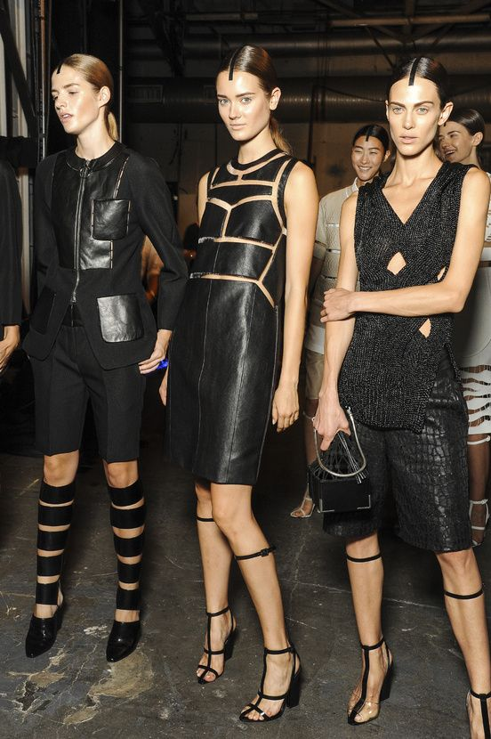 Backstage Leather Alexander Wang SS13