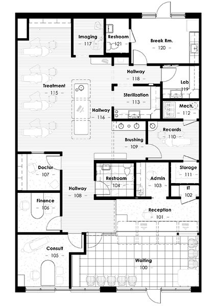 Longmont braces floor plan pinterest office designs room and small office design for Orthodontic office design floor plan