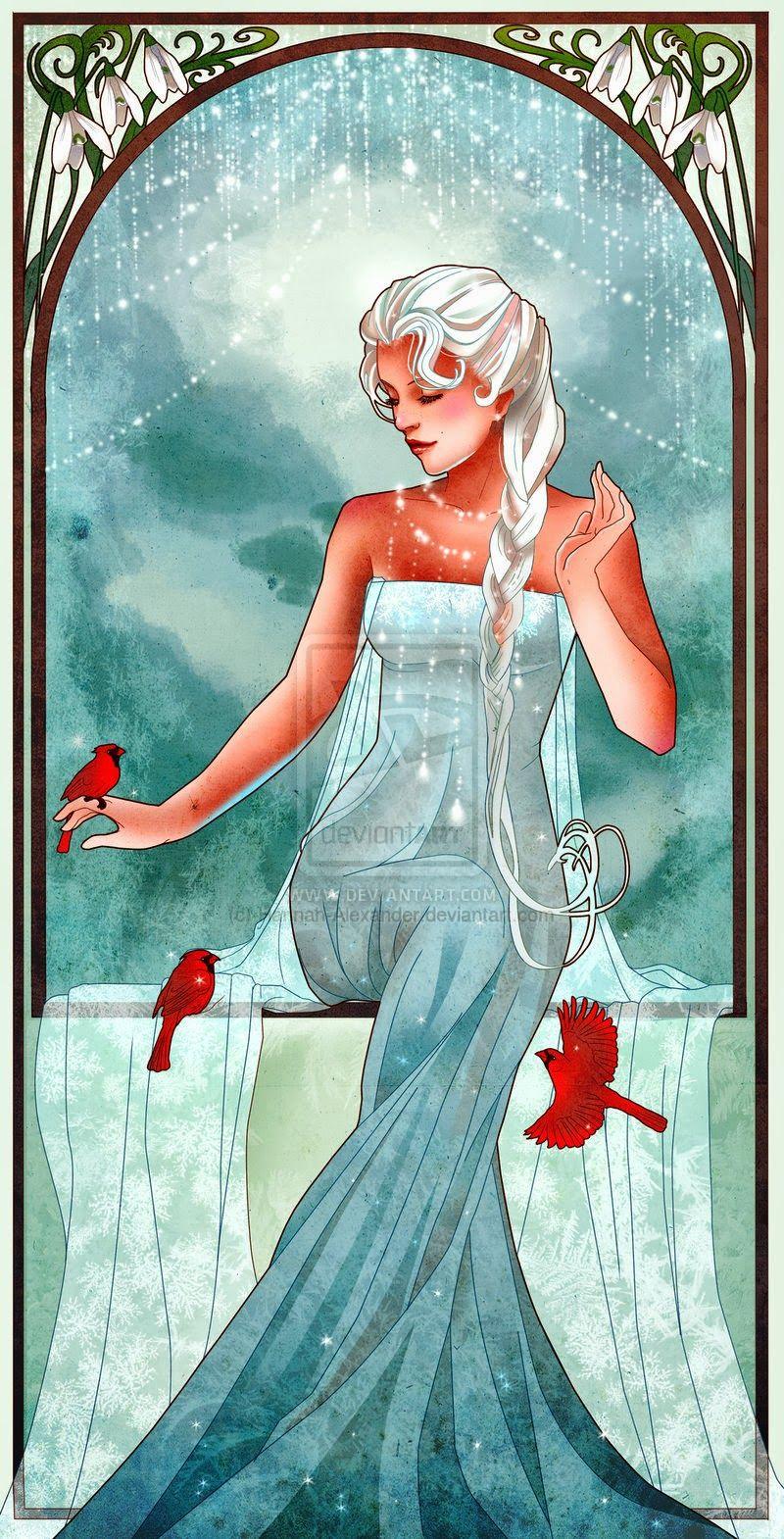 By hannah alexander illustration art nouveau u mucha