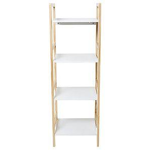 Four Tier Shelf Unit White Pine Target Australia Shelves