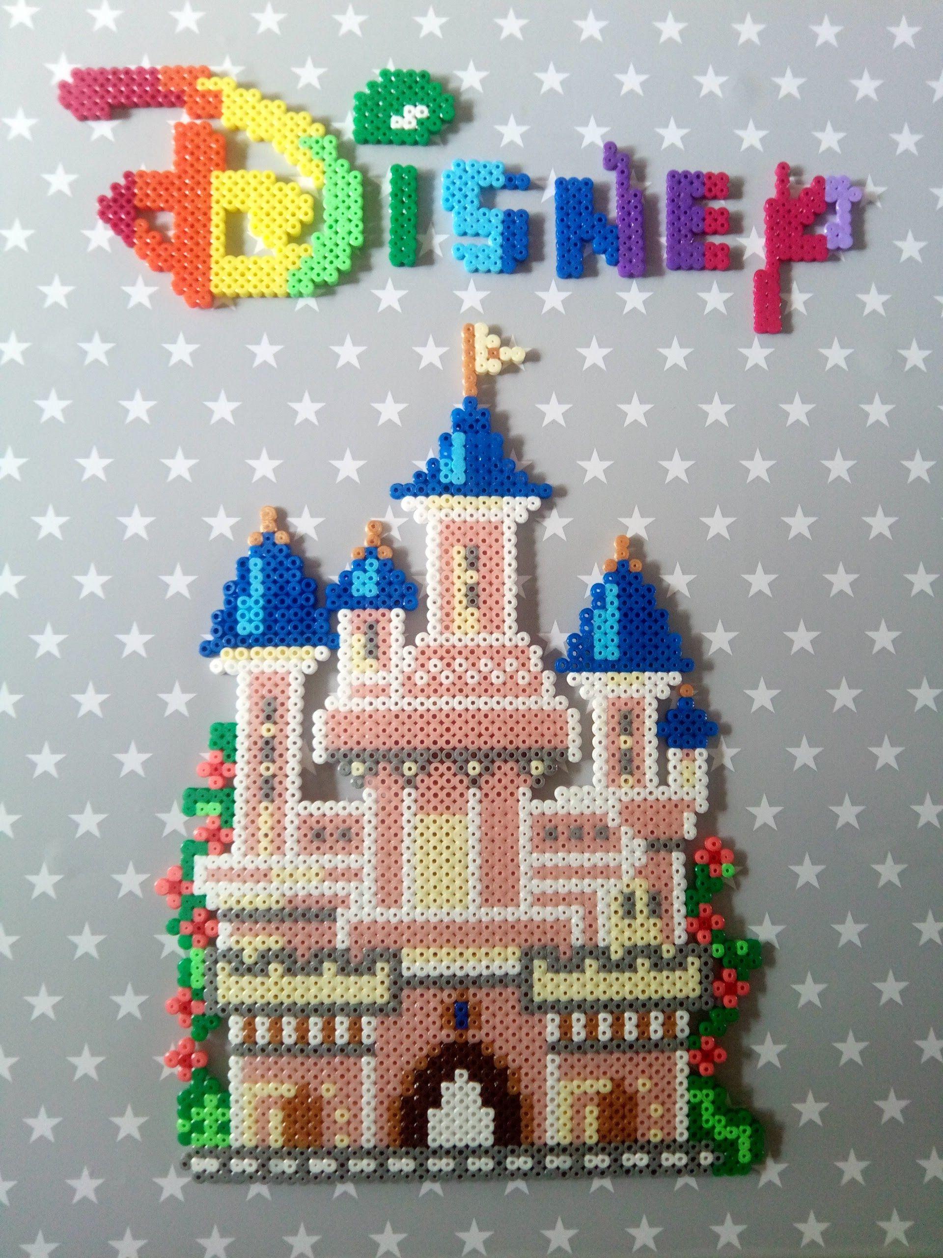 Disney Château Belle Au Bois Dormant En Perle Hama