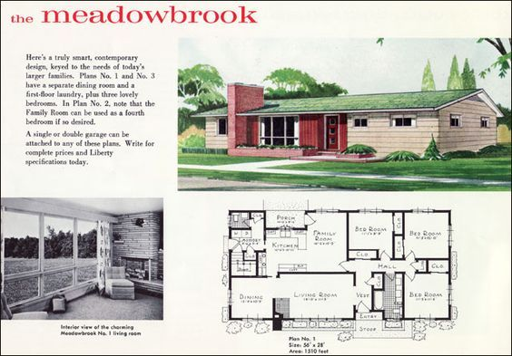 midcentury ranch style houses | mid century ranch plan - the