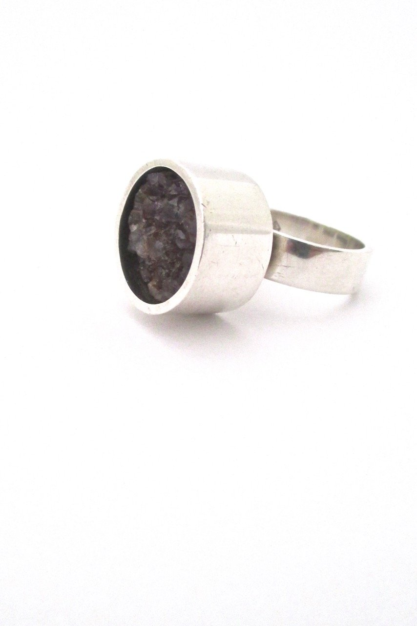 Jens asby large silver u raw amethyst ring pinterest amethysts