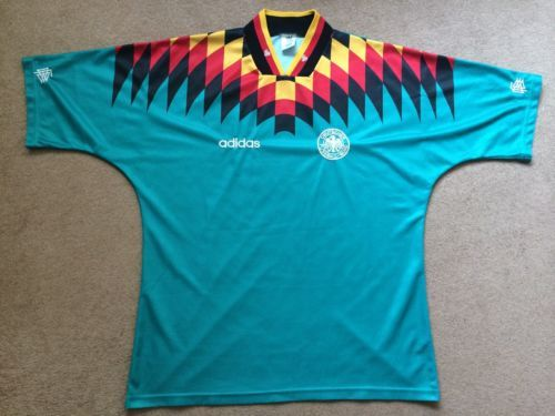 bdfb267aa Rare Vintage Germany Away Football Shirt Soccer Jersey 1994 USA Adidas My  first soccer jersey ever.