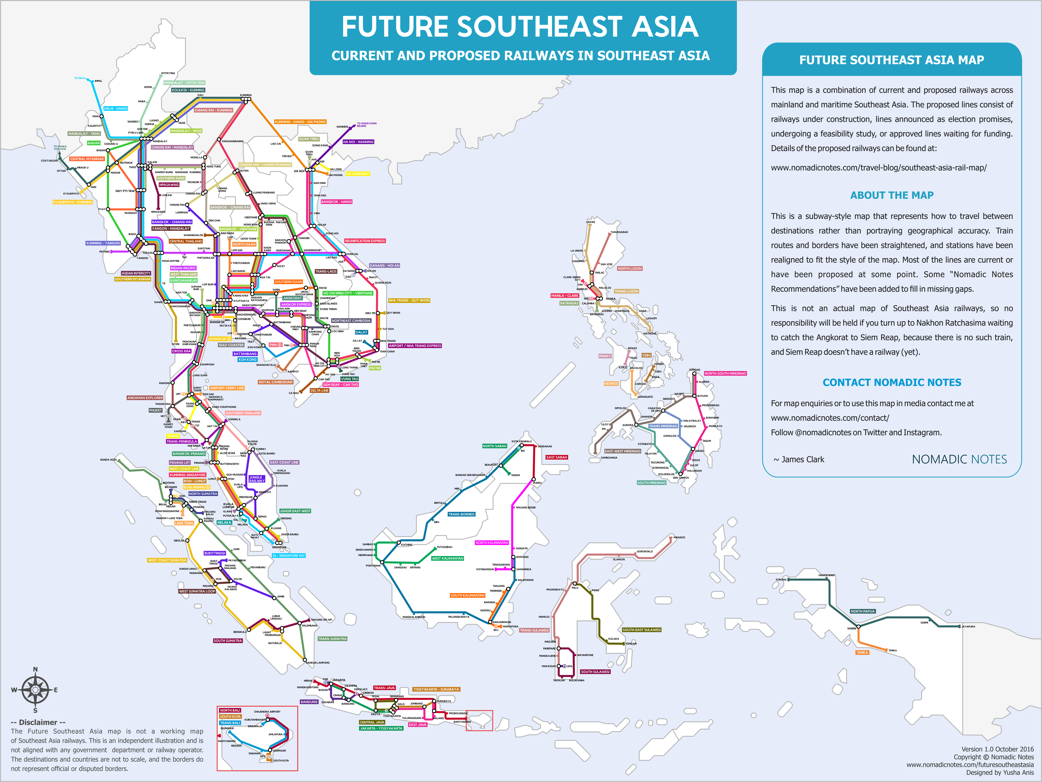 Future Southeast Asia – A map of proposed railways in Southeast Asia ...