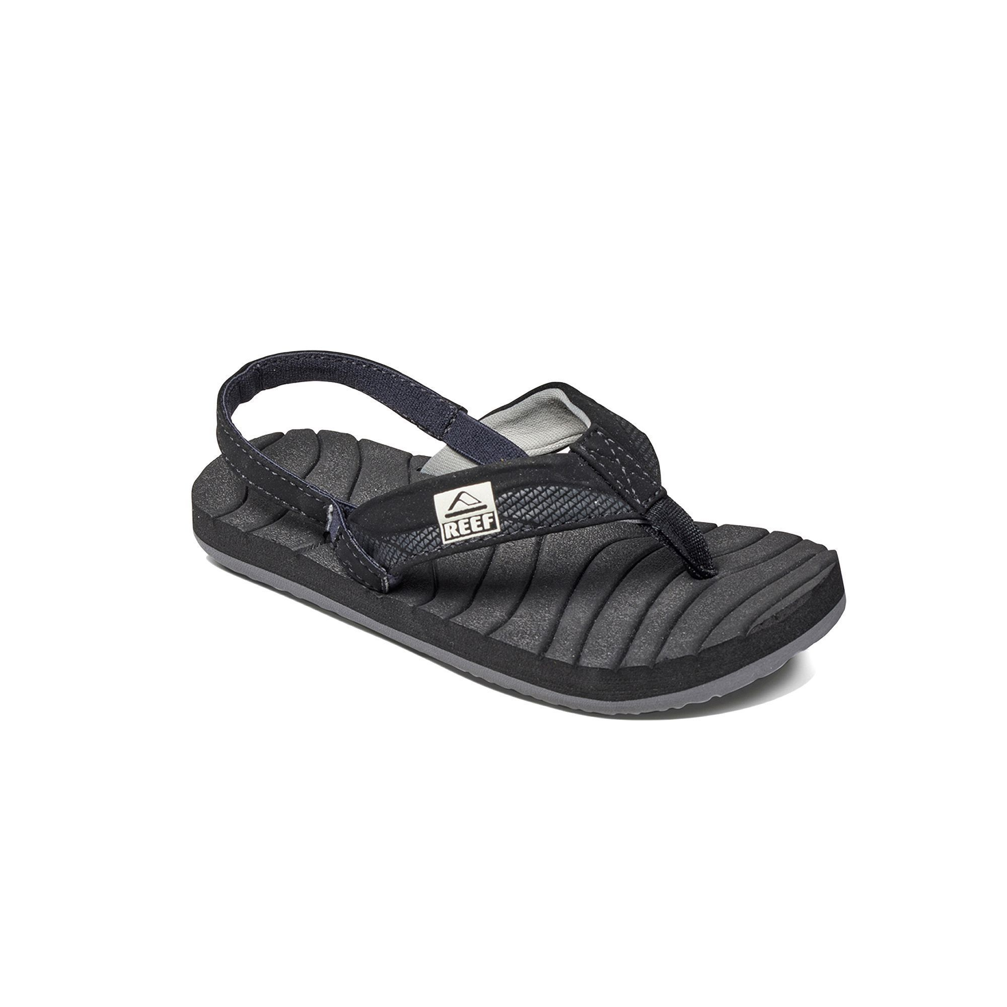 Reef Grom Roundhouse Toddler Boys' Sandals, Size: 5-6T, Black, Durable