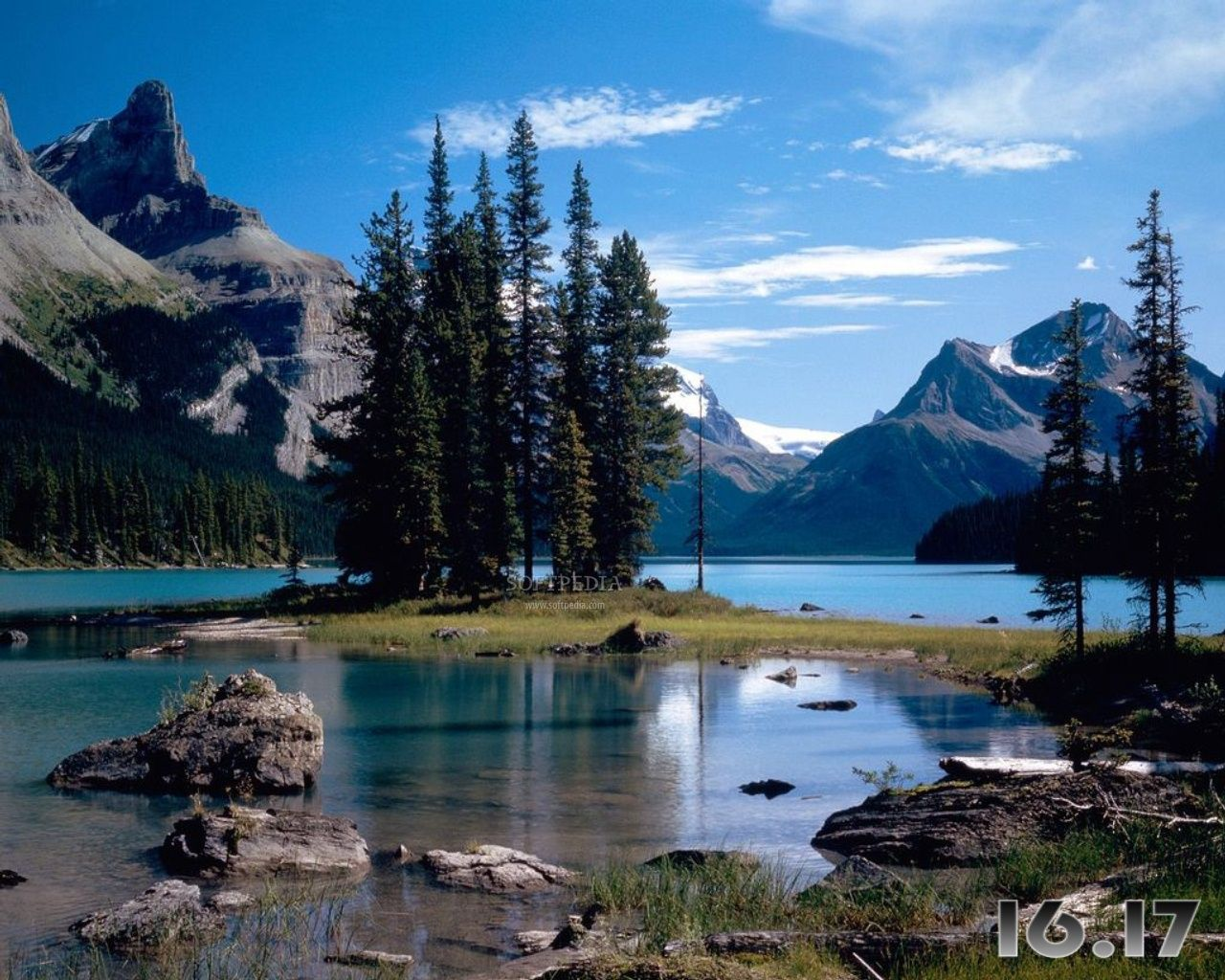 Screensavers Free Downloads Canadian Sketches Free Screensaver Screenshot 1 This Is One Of The Beautiful Scenery Pictures Maligne Lake National Parks