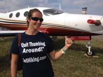 The Flying Hitchhiker,  Producer/Show Host,  Amber Nolan