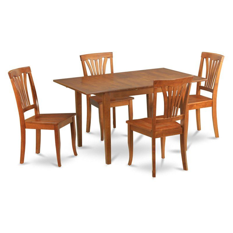 e1030c14b East West Furniture Milan 5 Piece Rectangular Dining Table Set with Avon  Chairs - MLAV5-SBR-C