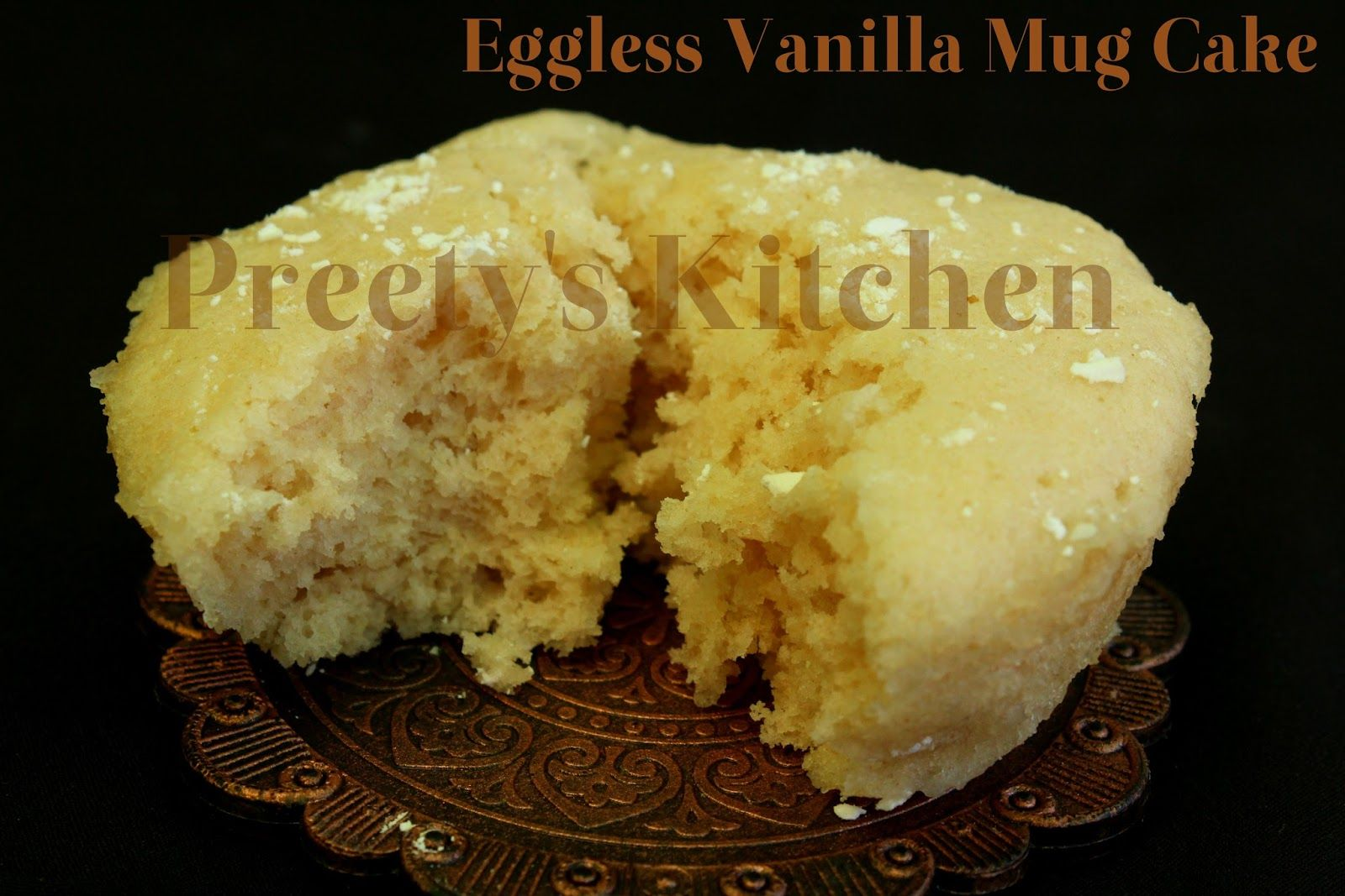 Eggless Vanilla Mug Cake / Single Serving Dessert ...