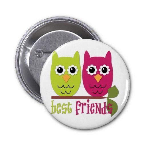 Best Friend Owl Button