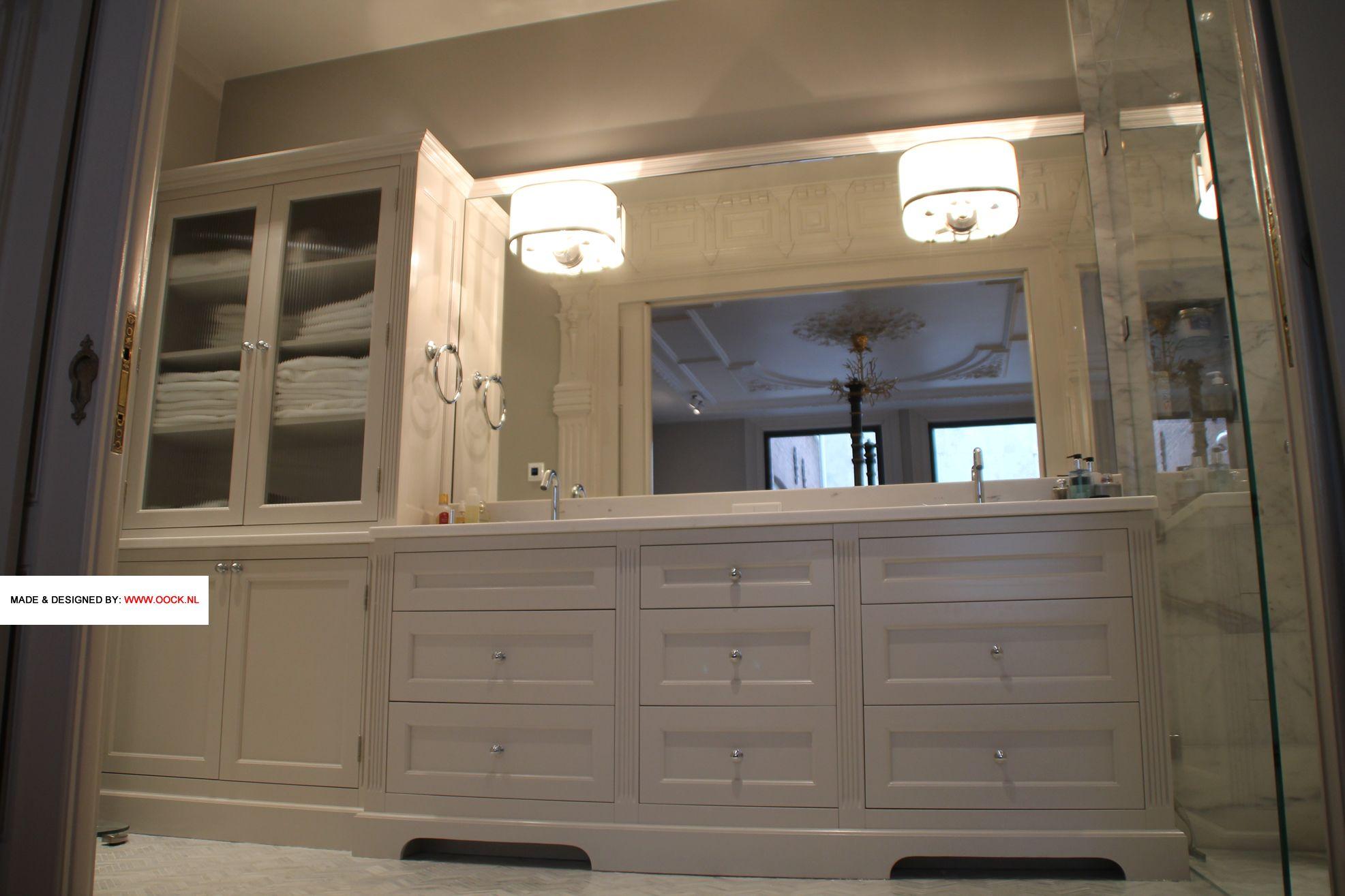 Badkamer meubel op maat klassieke kast voor in de klassieke badkamer details zijn het marmeren - Klassieke badkamer meubels ...