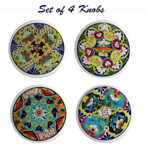 Round Talavera Design Ceramic Knobs Pulls Kitchen Drawer Cabinet Dresser  1195   Cabinet And Furniture Knobs. Round Talavera Design Ceramic Knobs Pulls Kitchen Drawer Cabinet