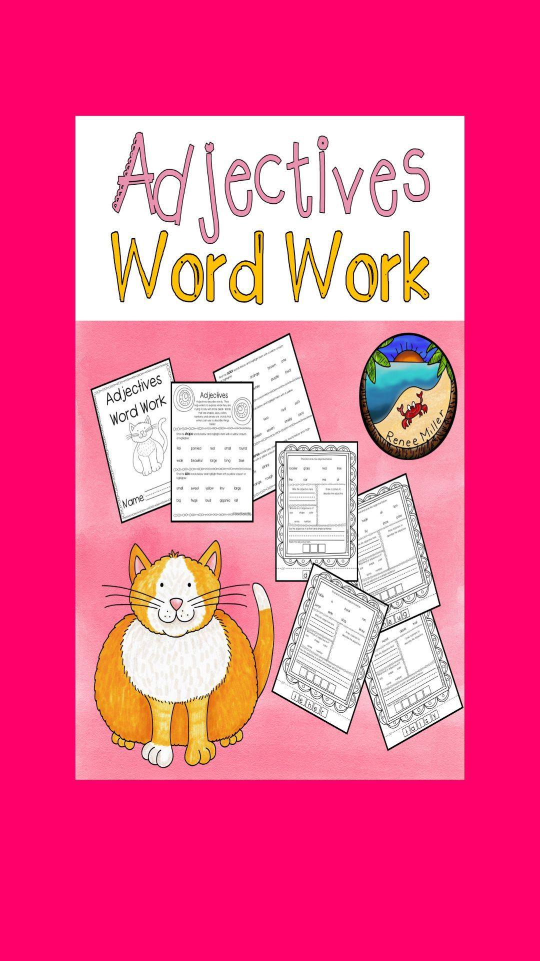 Independent Work Adjective Worksheets In