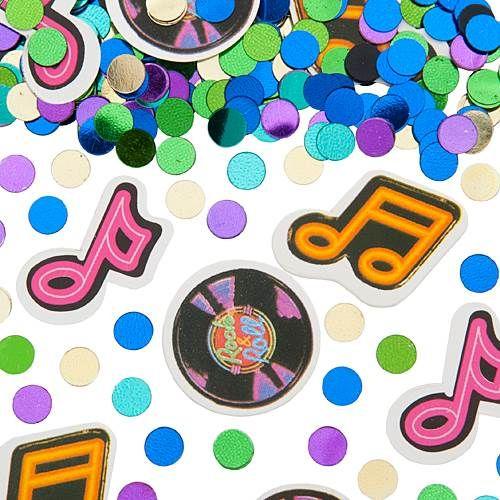 Rock \u0027N Roll Confetti Table centerpieces Pinterest Confetti - confeti