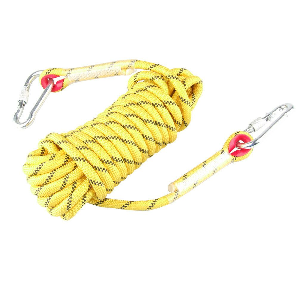 25KN 12mm Pro Rock Tree Climbing Auxiliary Rope Sling Safety Rapelling Cord Gear