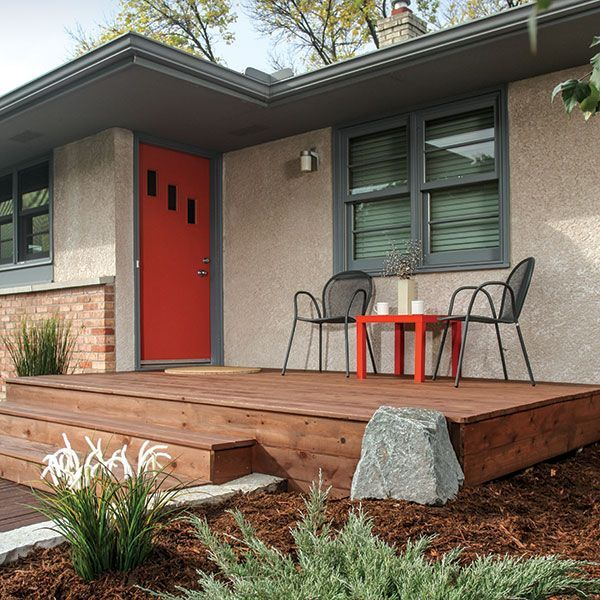 Image result for front stoop azek midcentury 103 stoop for Front porch deck designs