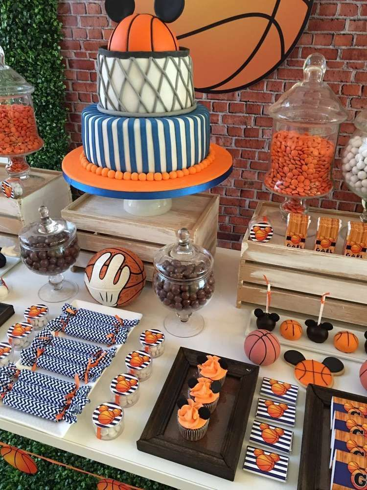 Amazing mickey mouse basketball birthday party see more