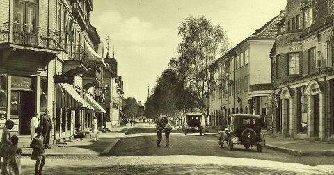 Hedmark fylke Elverum kommune sentrumsmotiv 1930-tallet