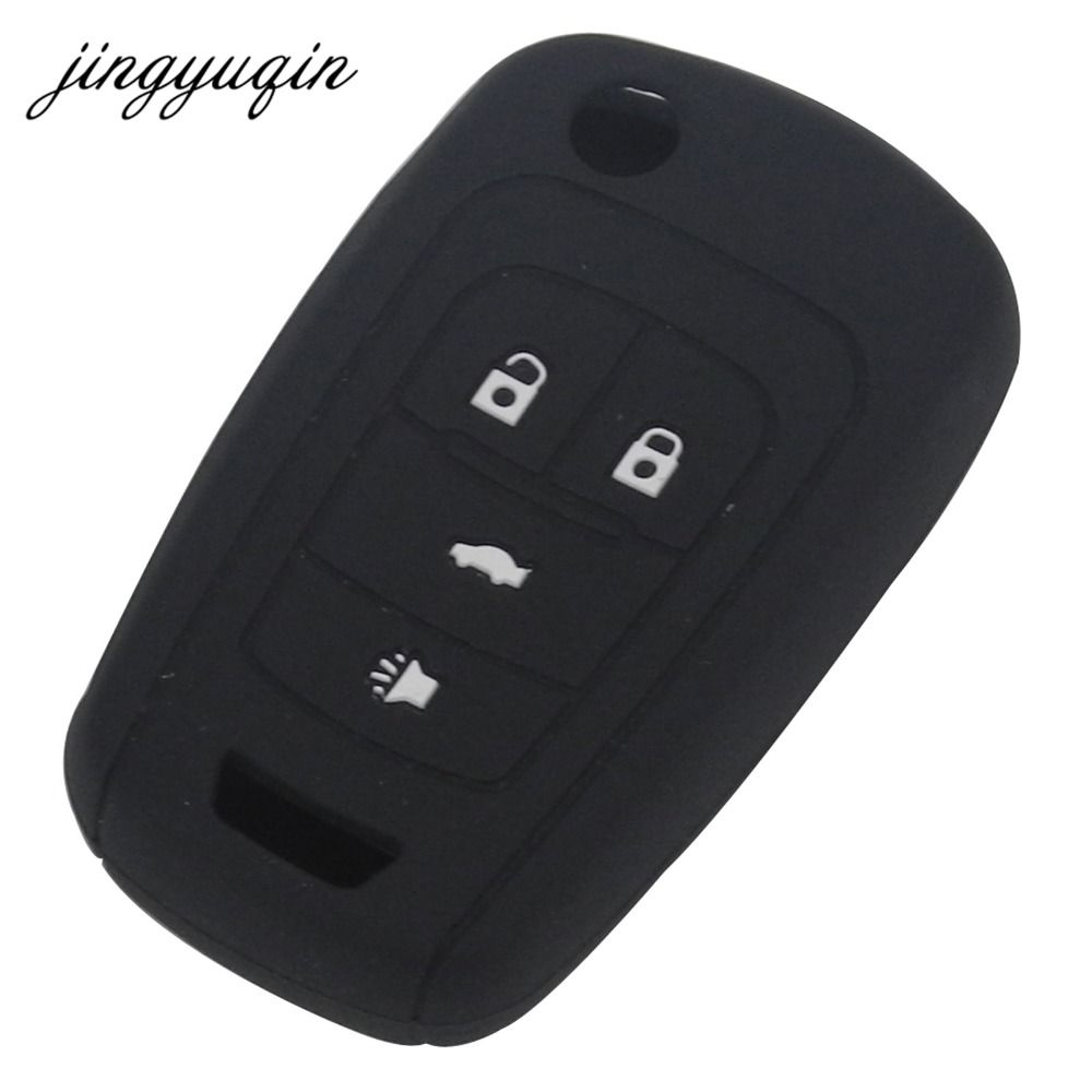 Jingyuqin 4btn Silicone Key Case For Vauxhall Opel Insignia Astra
