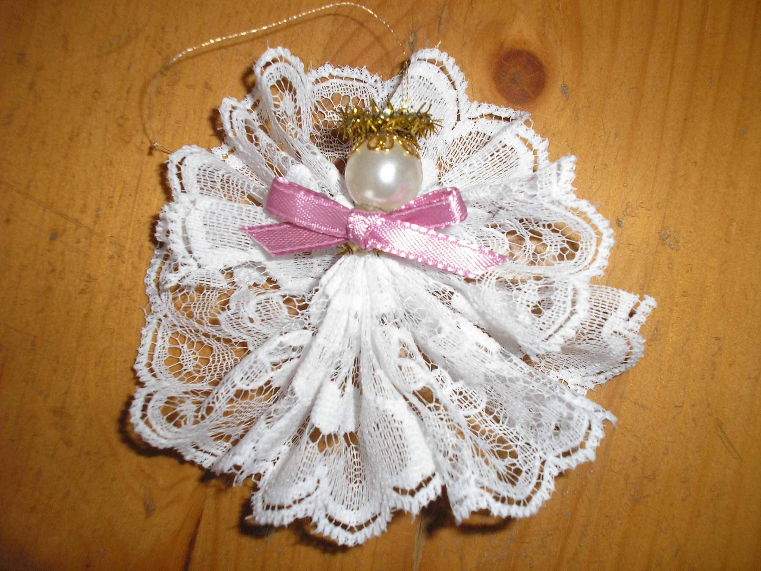 Lace Angel Ornament Christmas Angel Ornaments Handmade Diy Quilted Christmas Ornaments Christmas Angel Ornaments