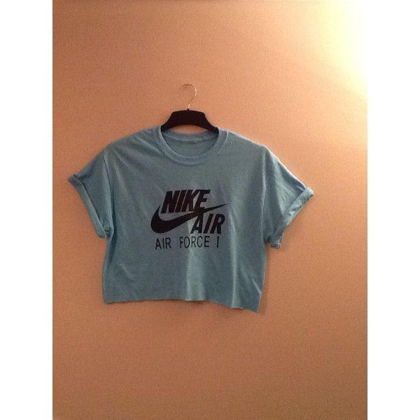 selezione mondiale di migliore selezione di vendita outlet Unisex Customised Nike Air Force 1 Cropped T Shirt Swag Sassy ...