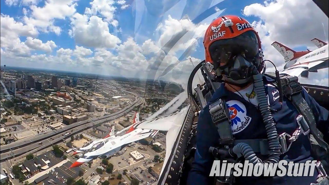 """Thunderbirds Over Texas! """"America Strong"""" Flyover"""