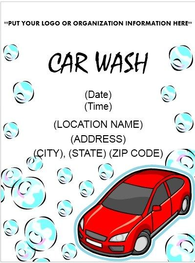 Car Wash Flyer Template Stationary Templates Car Wash Posters