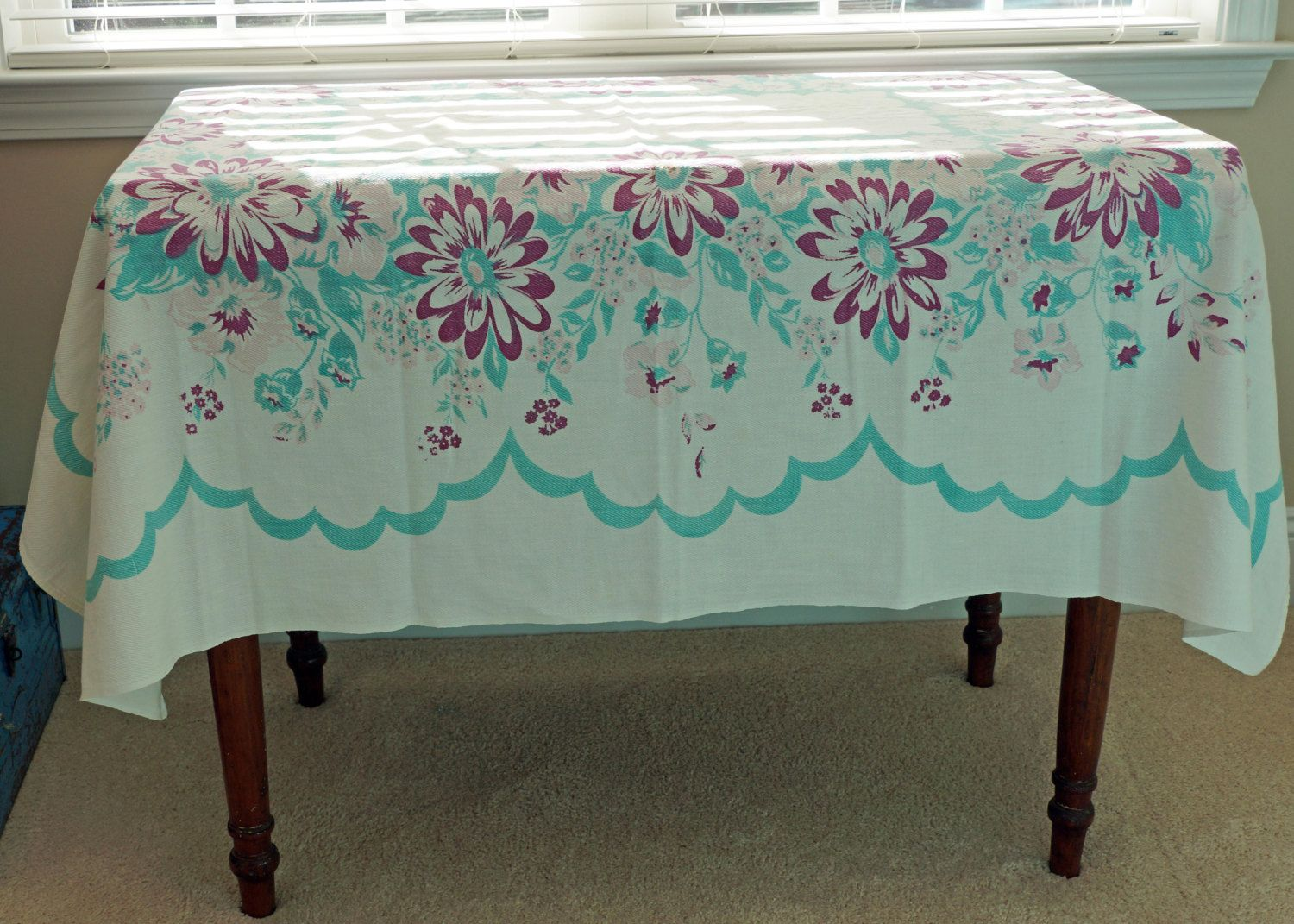 Shabby Chic Vintage Tablecloth | Shabby, Vintage and Shabby chic ...