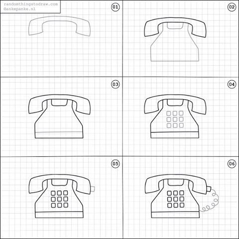 How To Draw A Phone Dessins Faciles Griffonnages Et